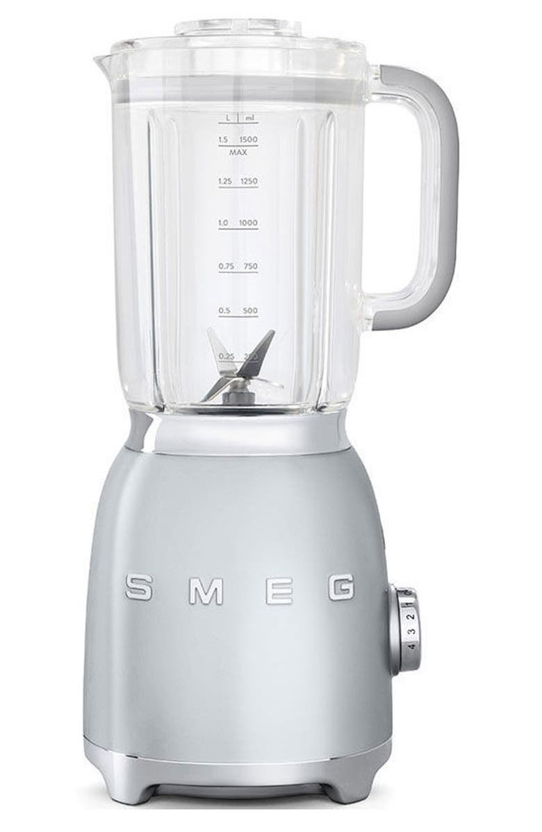 SMEG '50s Retro Style Blender, Main, color, POLISHED STAINLESS STEEL