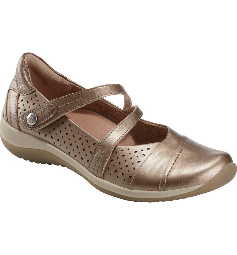 EARTH<SUP>®</SUP> Newton Mary Jane Flat, Main, color, PLATINUM LEATHER