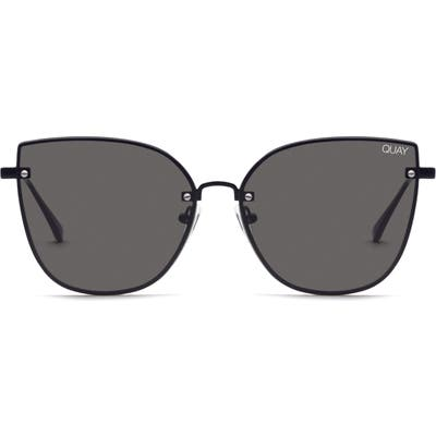 Quay Australia Lexi 5m Cat Eye Sunglasses - Black/ Smoke