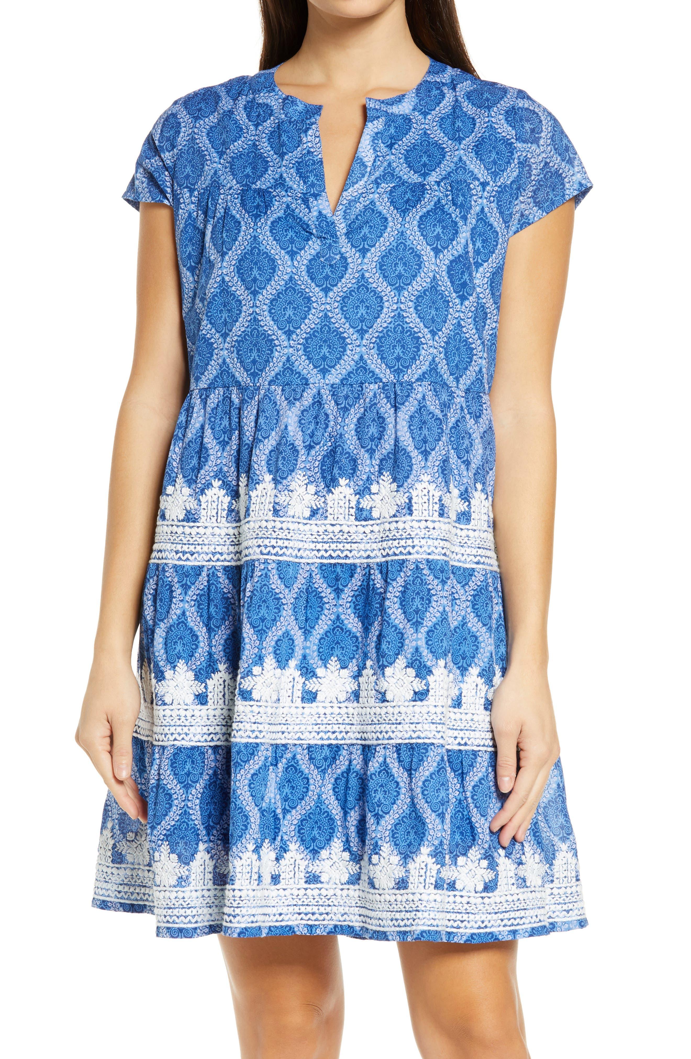 Roller Rabbit Pamela Embroidery Detail Cotton Cover-Up Dress   Nordstrom