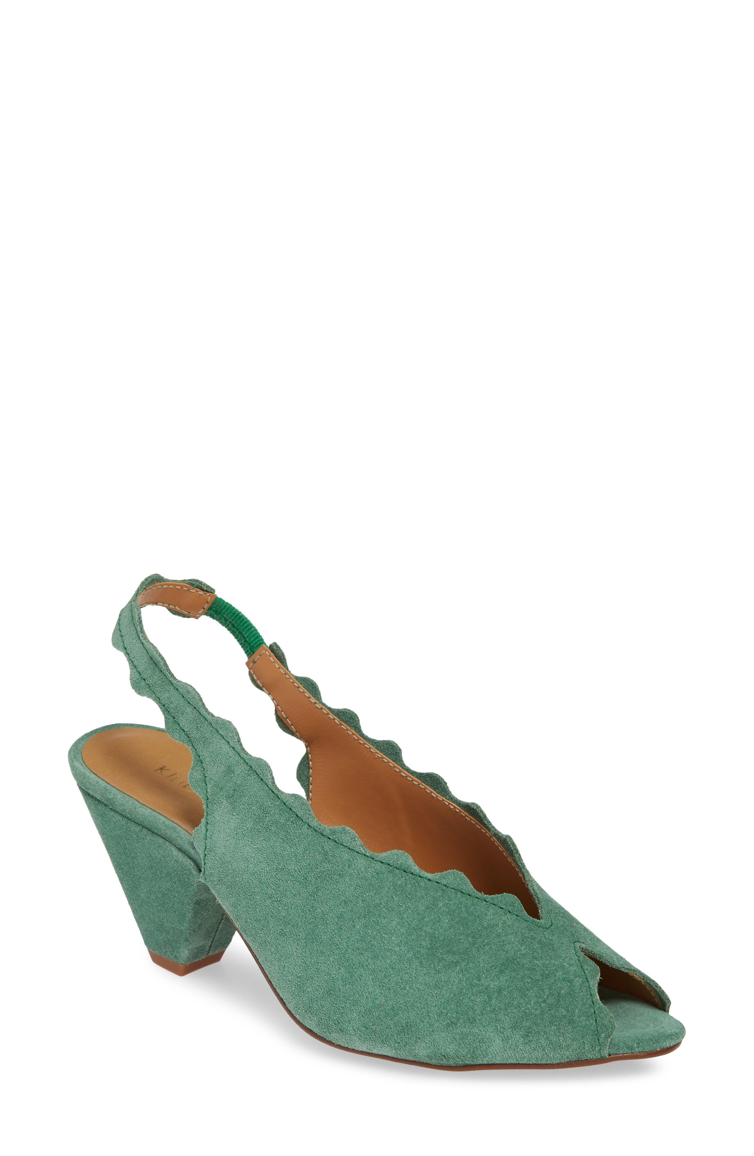 Klub Nico Amelia Scallop Slingback Sandal, Green
