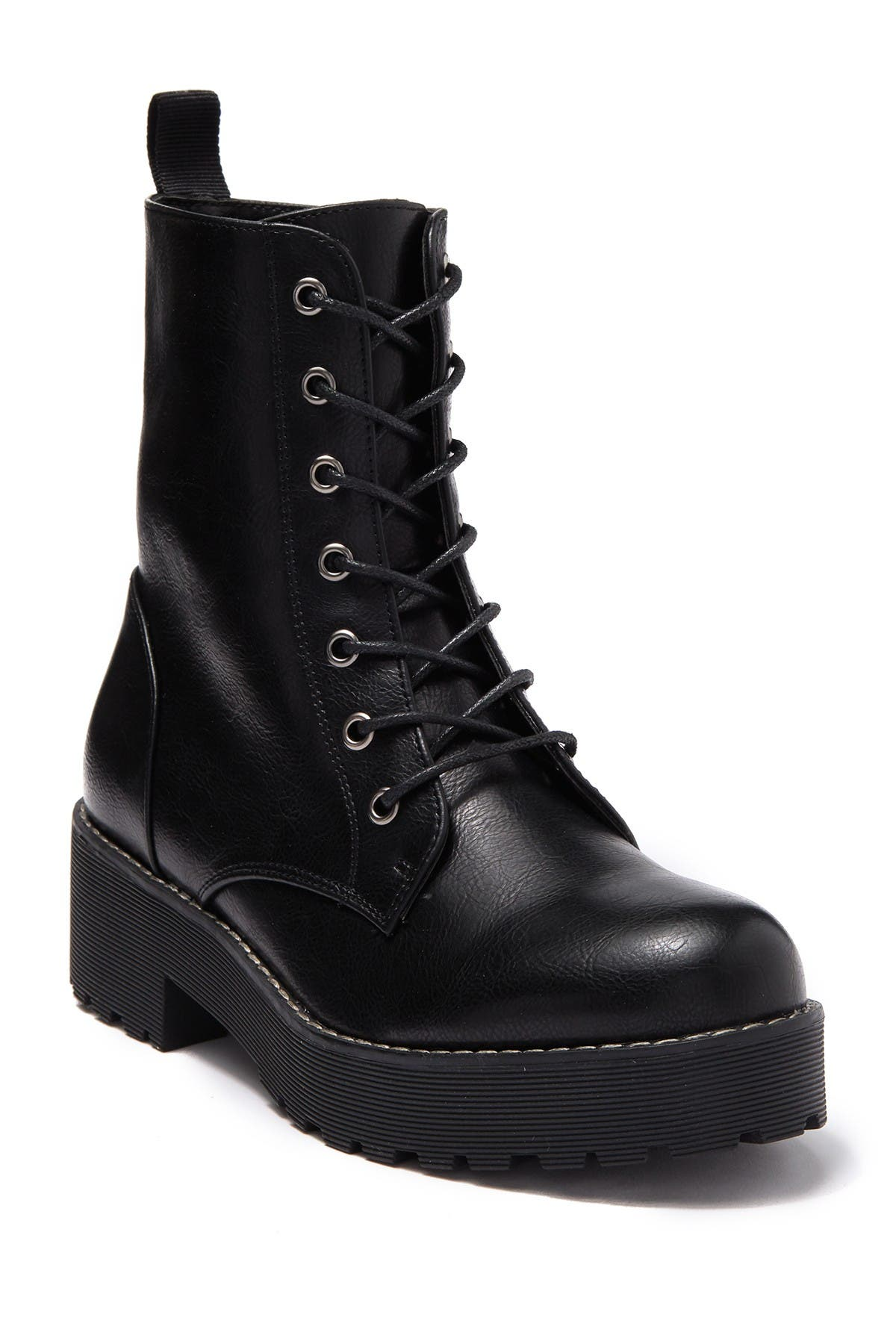 Image of Dirty Laundry Moore Smooth Platform Combat Boot