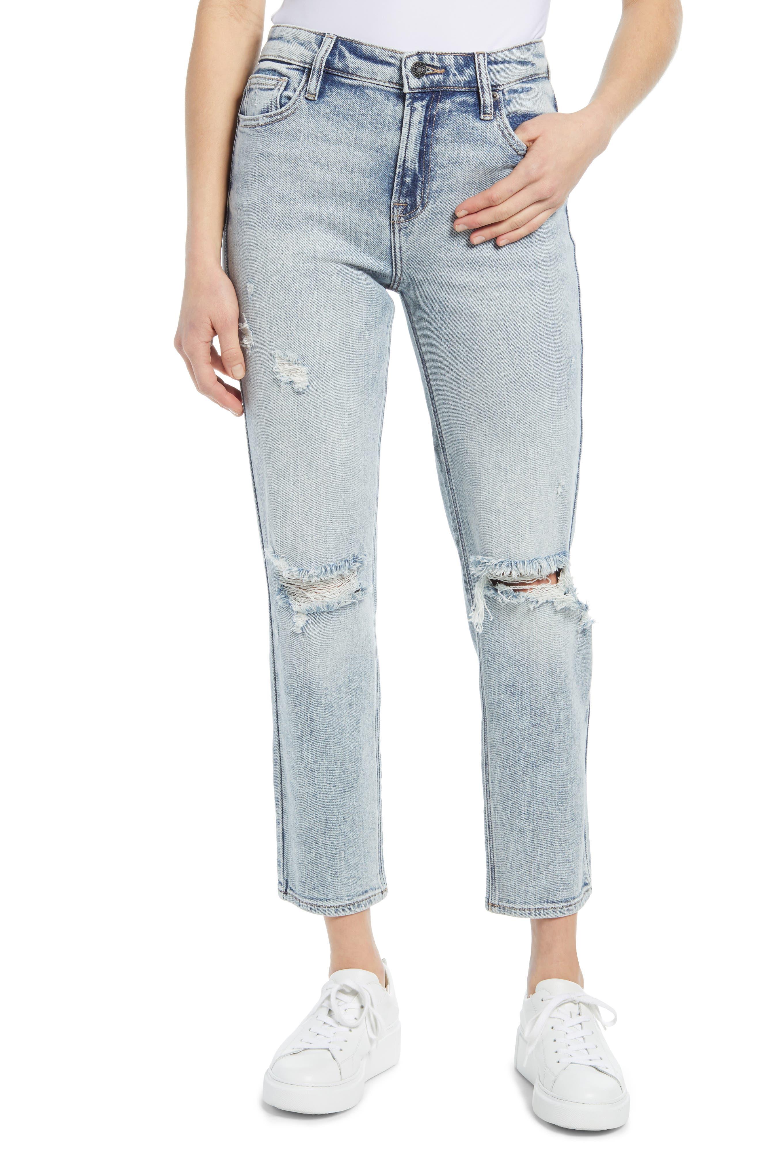 Ripped Slim Boyfriend Jeans