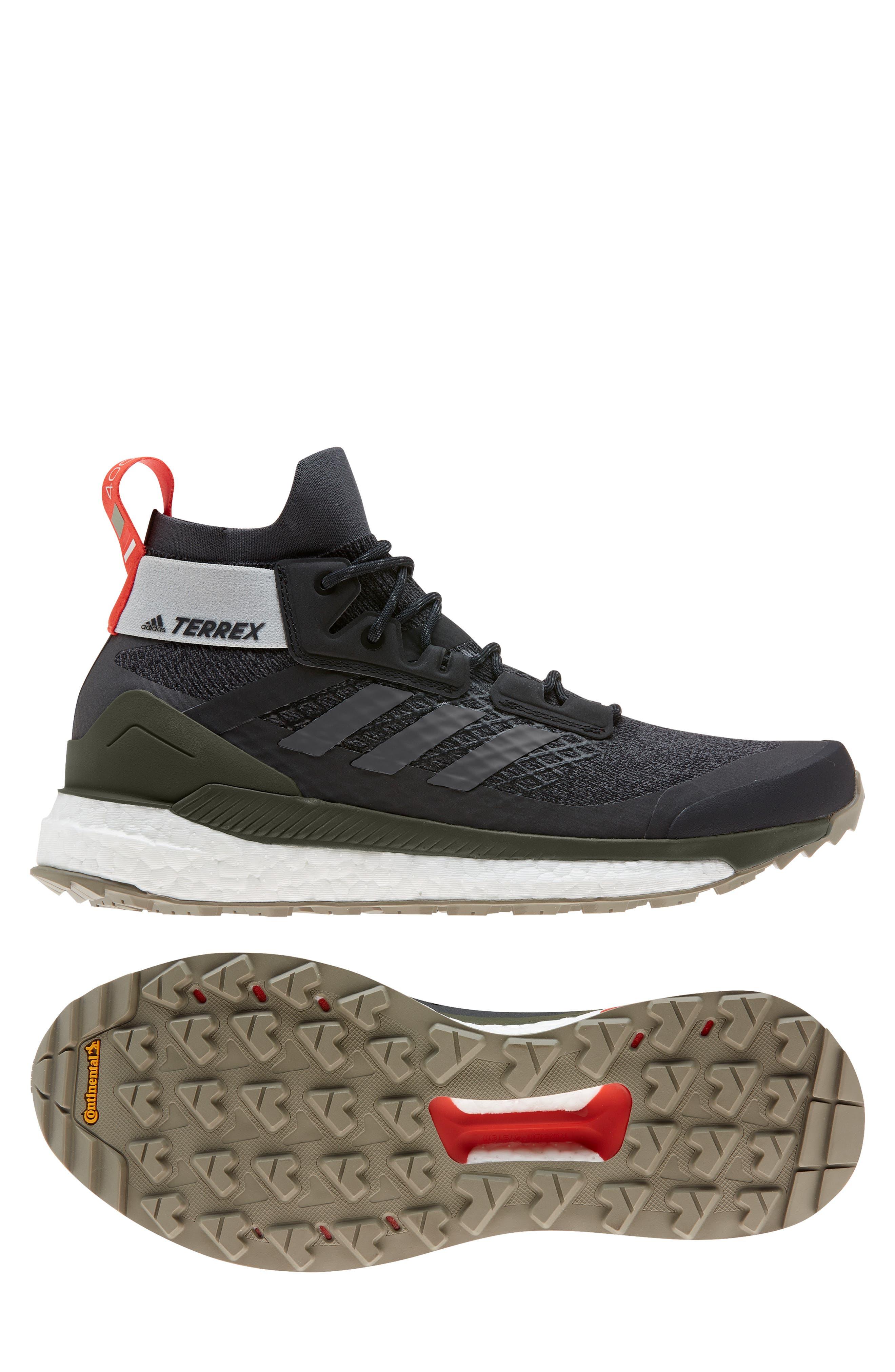 ,                             Outdoor Terrex Free Hiker CR Hiking Shoe,                             Alternate thumbnail 10, color,                             BLACK/ GREY SIX/ NIGHT CARGO
