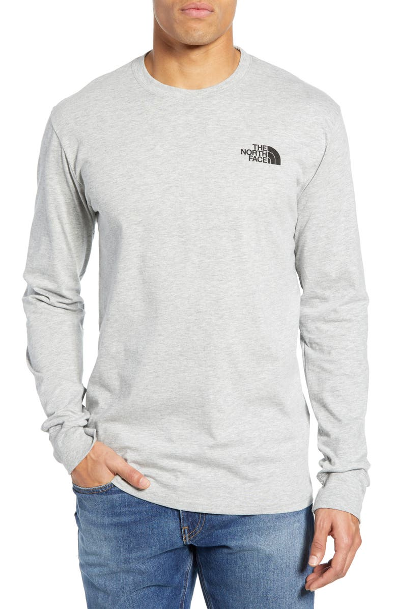 THE NORTH FACE Red Box Long Sleeve T-Shirt, Main, color, TNF LIGHT GREY HEATHER