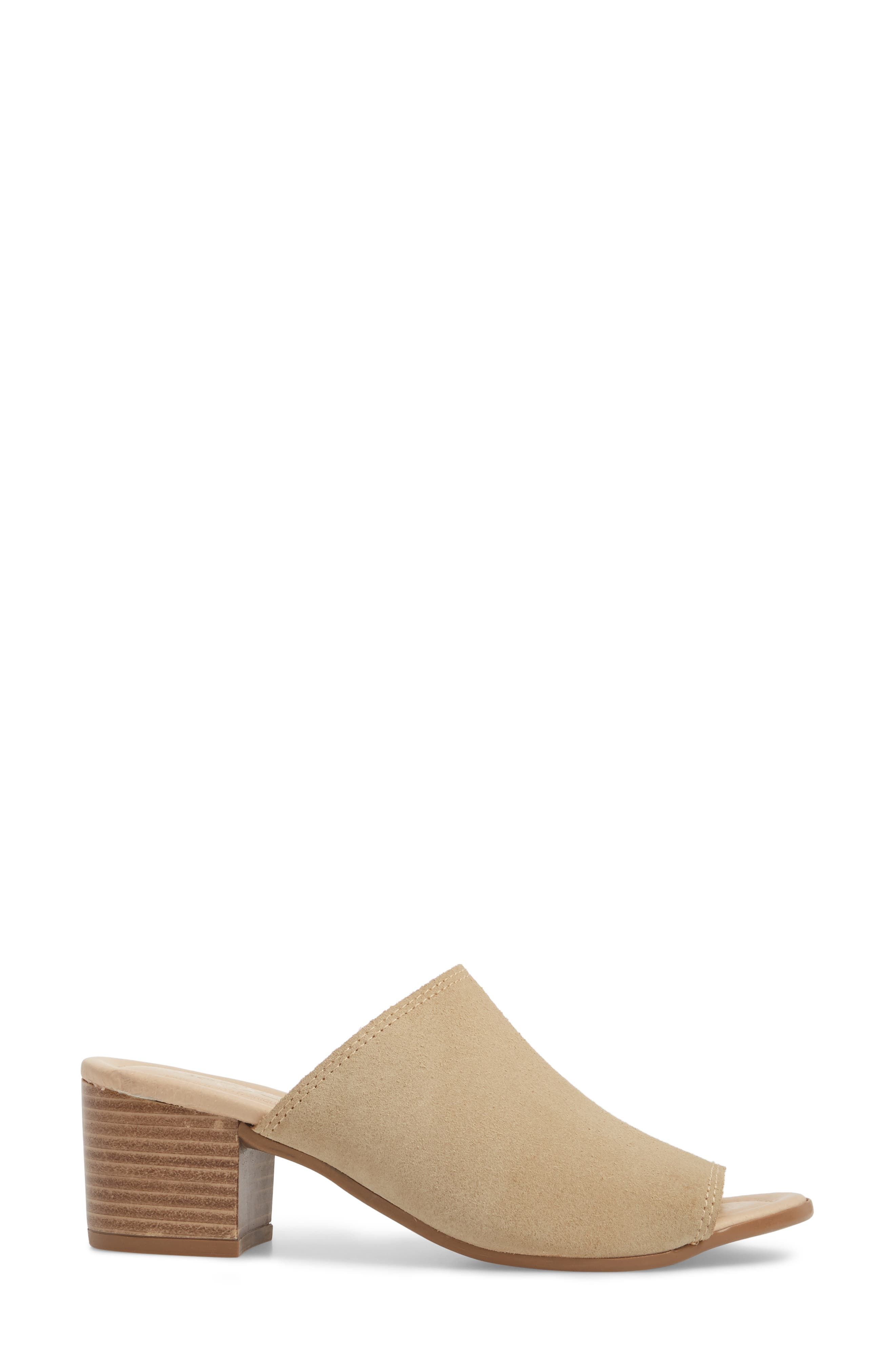 ,                             Fawn Mule,                             Alternate thumbnail 3, color,                             SAND CROSTA LEATHER