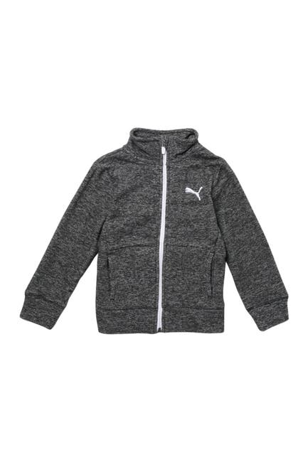 Image of PUMA Polar Fleece Space Dyed Zip Up Sweater