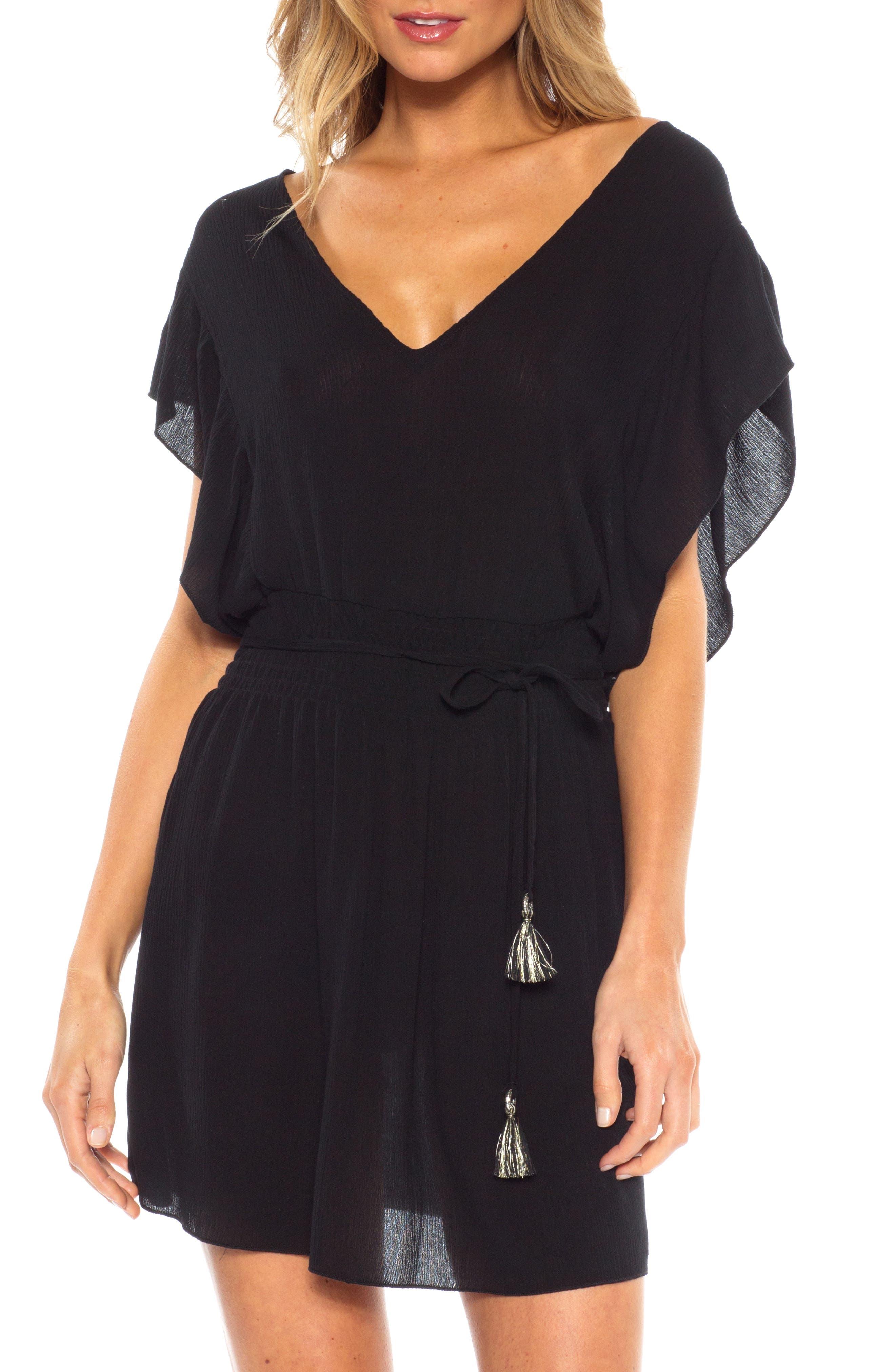 Becca Palermo Cover-Up Dress, Black