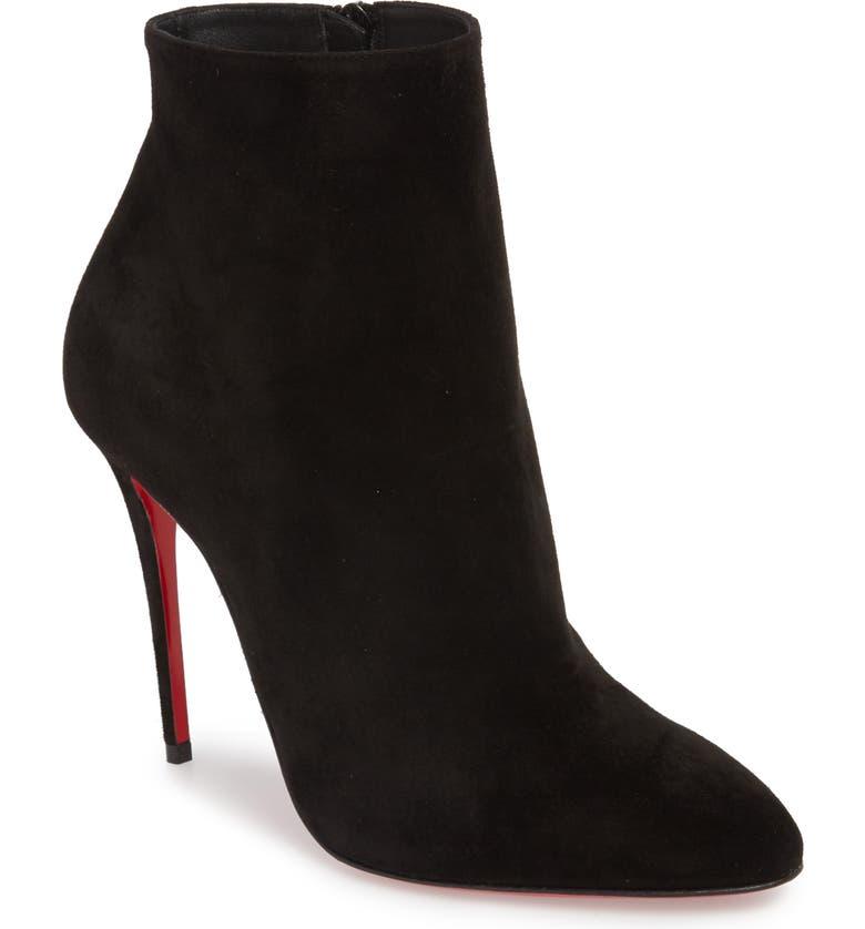 CHRISTIAN LOUBOUTIN Eloise Almond Toe Bootie, Main, color, BLACK