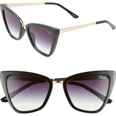 Quay Australia X Jlo Reina 52Mm Mini Cat Eye Sunglasses - Black/ Fade
