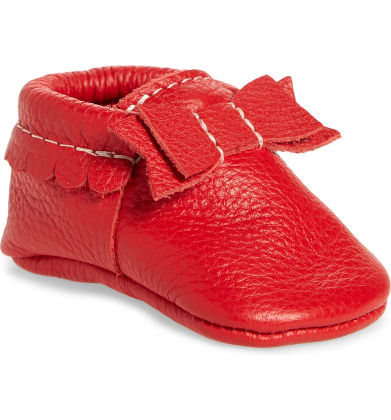 FRESHLY PICKED Santa Baby Moccasin, Main, color, RED