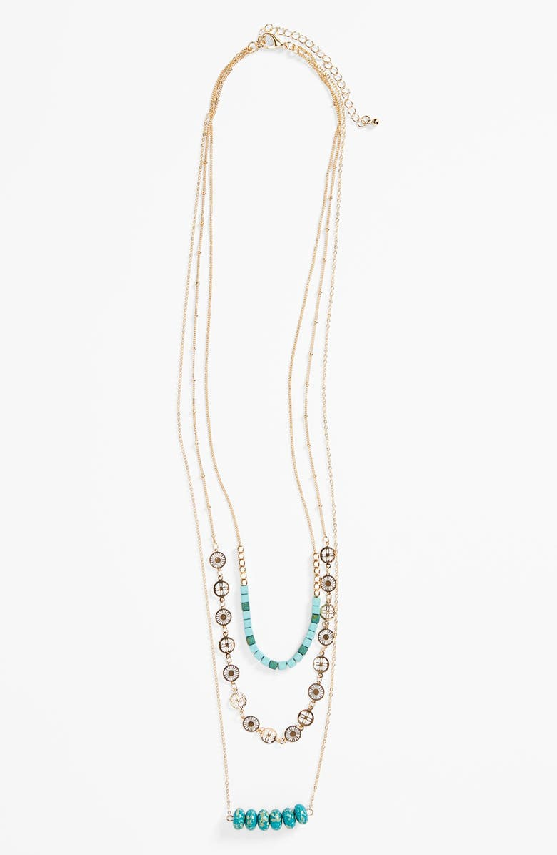 BP. Beaded Multistrand Necklace, Main, color, 440