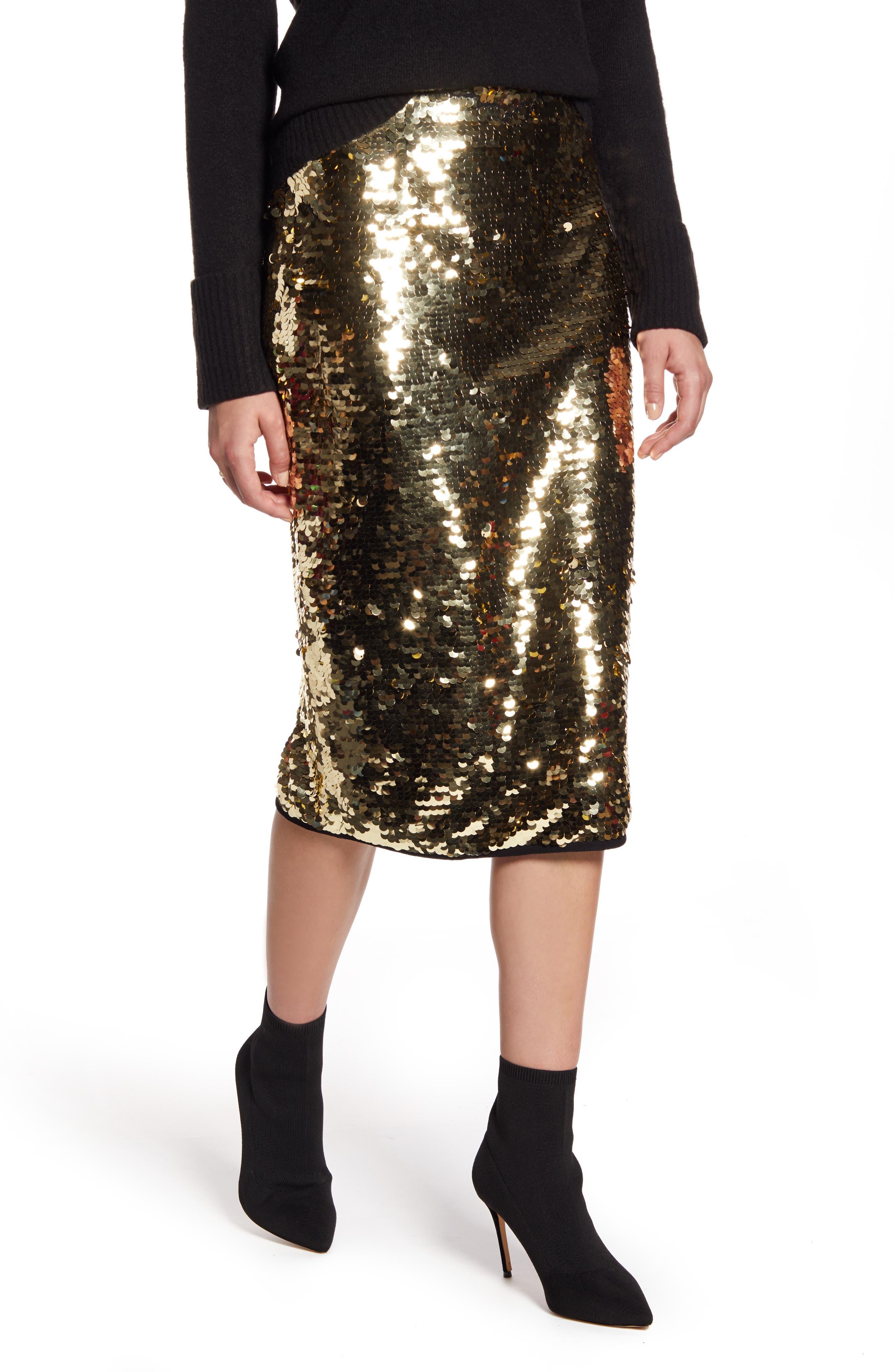 Halogen® Sequin Skirt