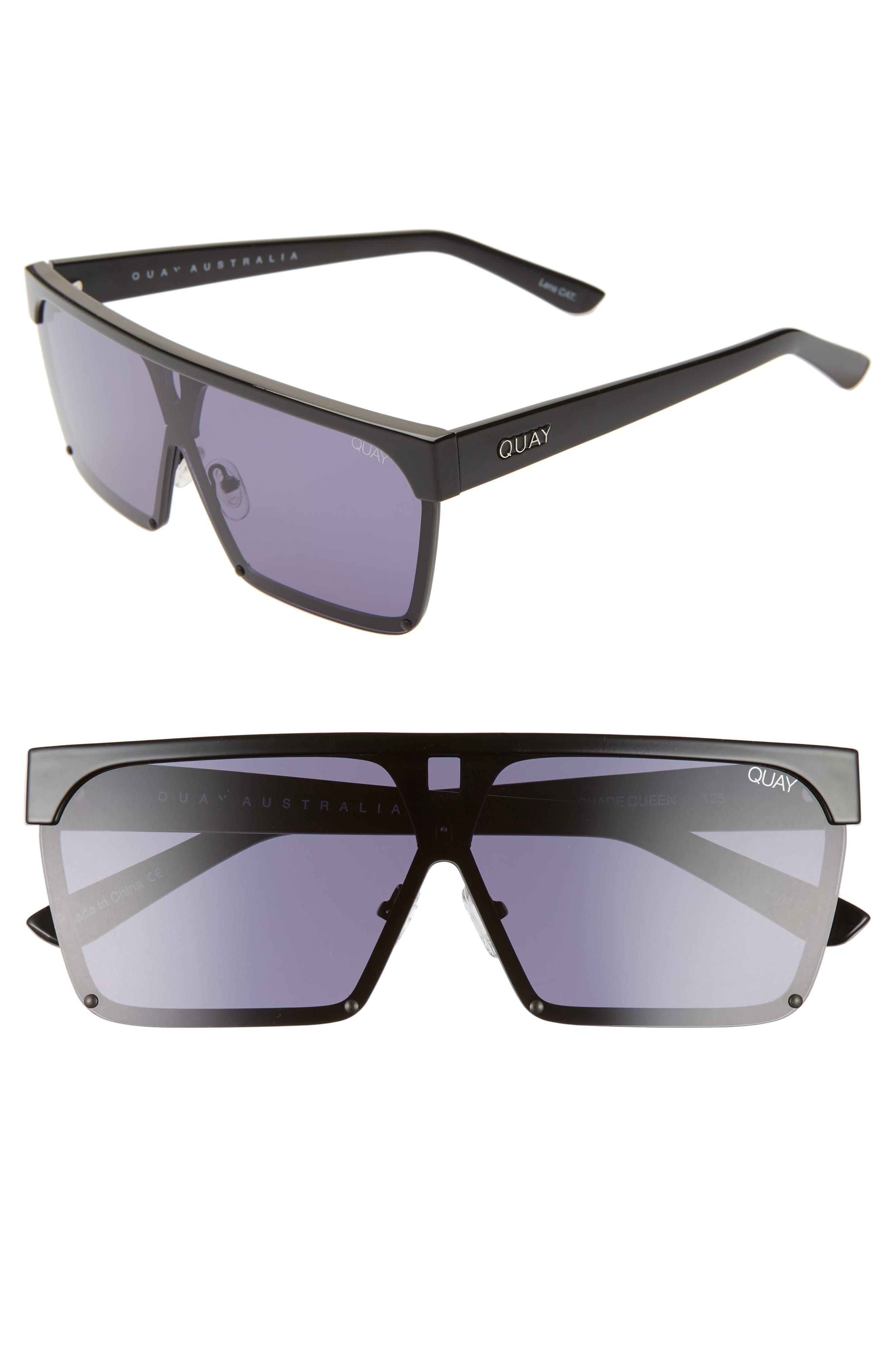 Quay Australia Shade Queen 5m Shield Sunglasses - Black/ Smoke