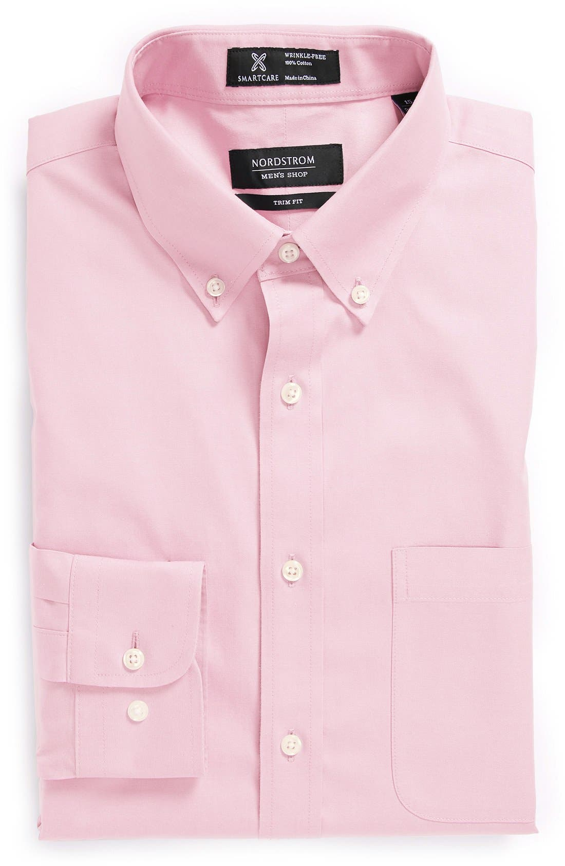 ,                             Smartcare<sup>™</sup> Trim Fit Solid Dress Shirt,                             Main thumbnail 40, color,                             691