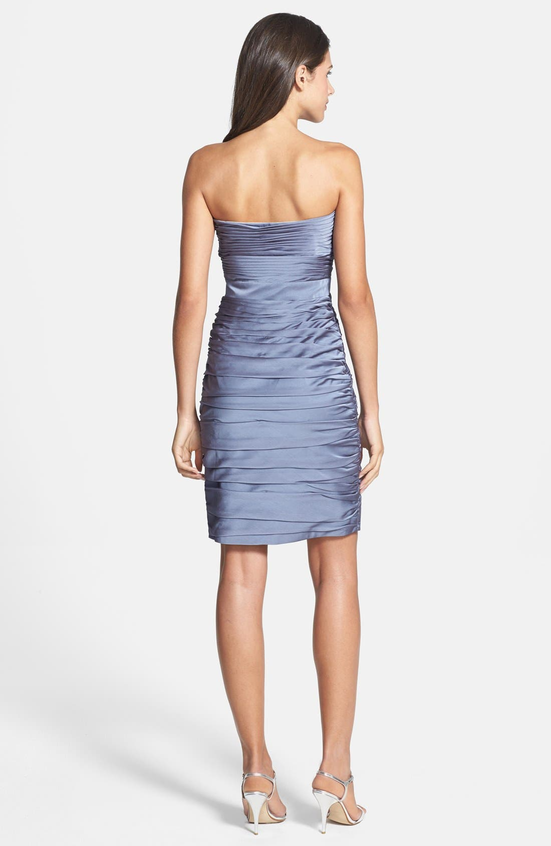,                             Ruched Strapless Cationic Chiffon Dress,                             Alternate thumbnail 12, color,                             022