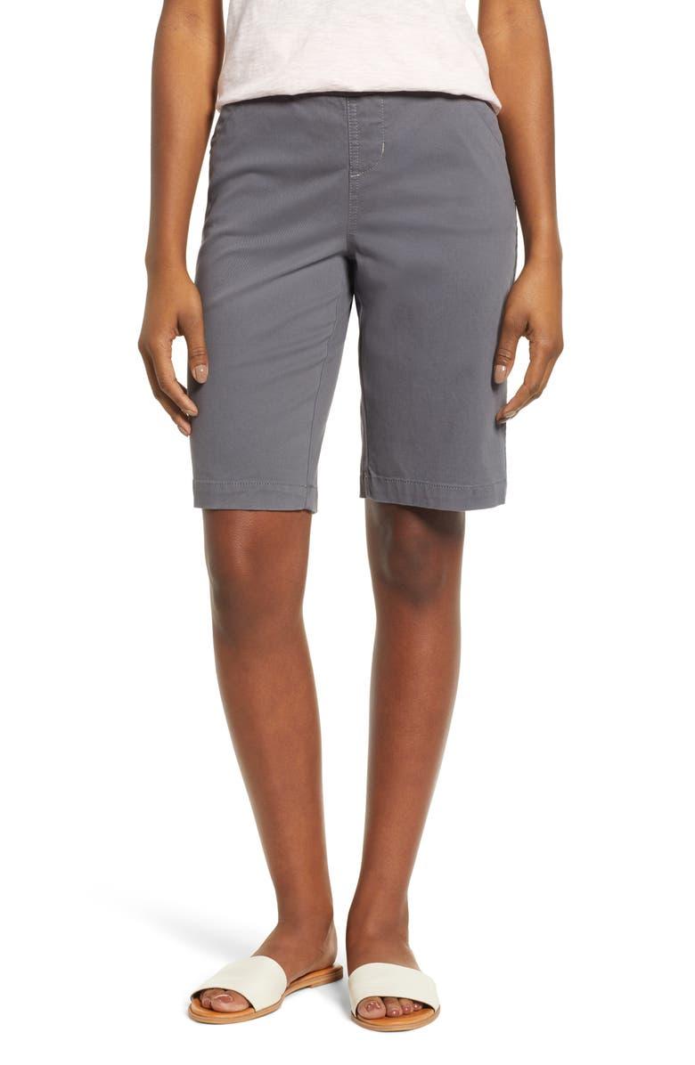 JAG JEANS Gracie Bermuda Shorts, Main, color, GREY STREAK