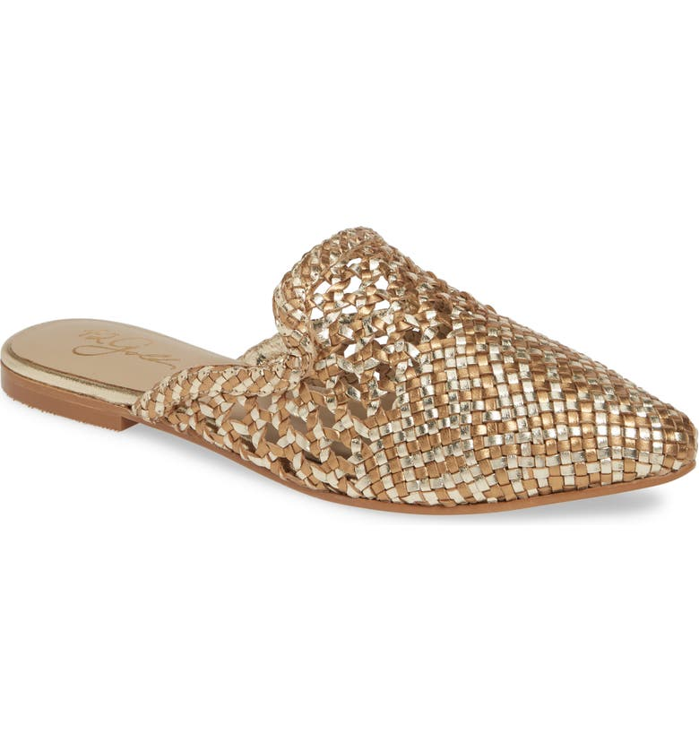 42 GOLD Corra Woven Loafer Mule, Main, color, GOLD/ BRONZE LEATHER