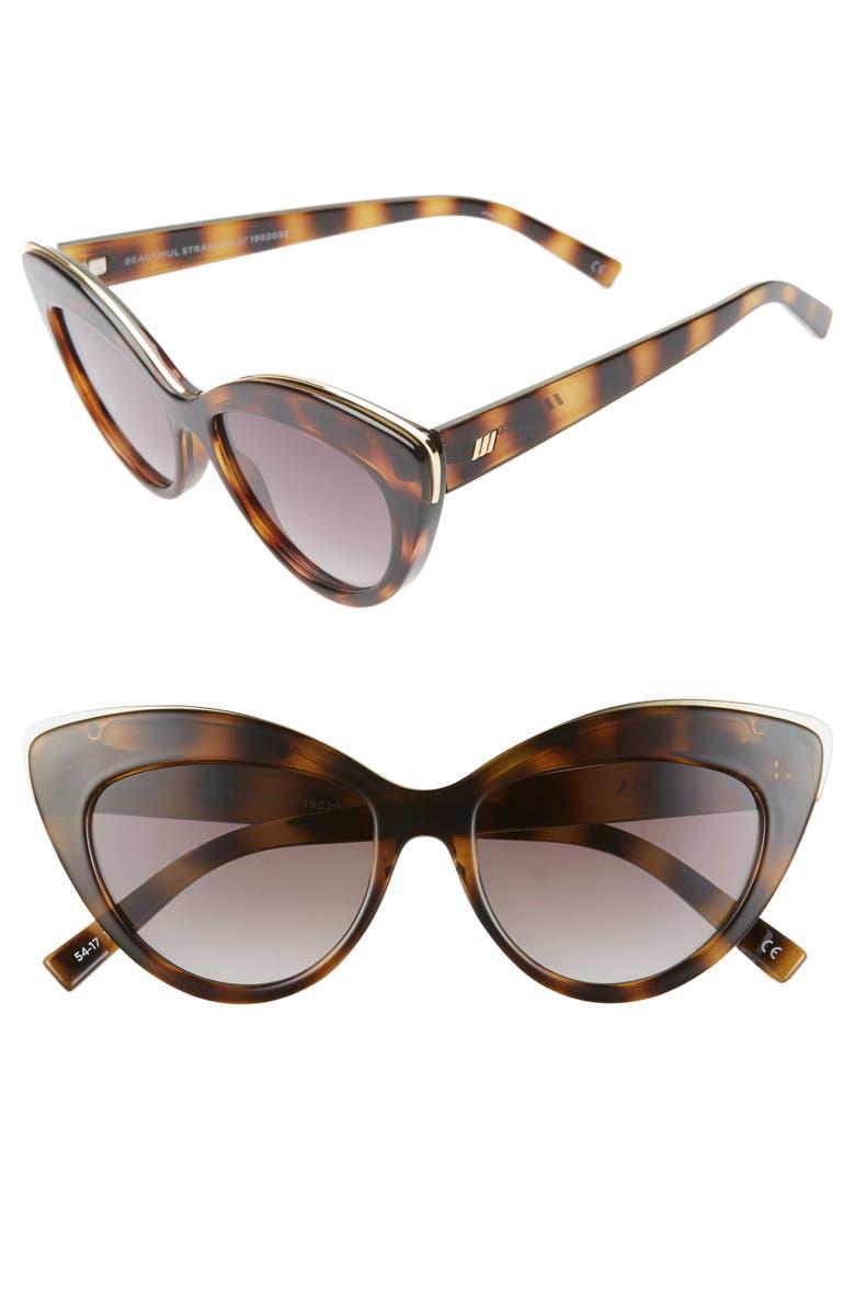 LE SPECS Beautiful Stranger 54mm Polarized Cat Eye Sunglasses, Main, color, 200