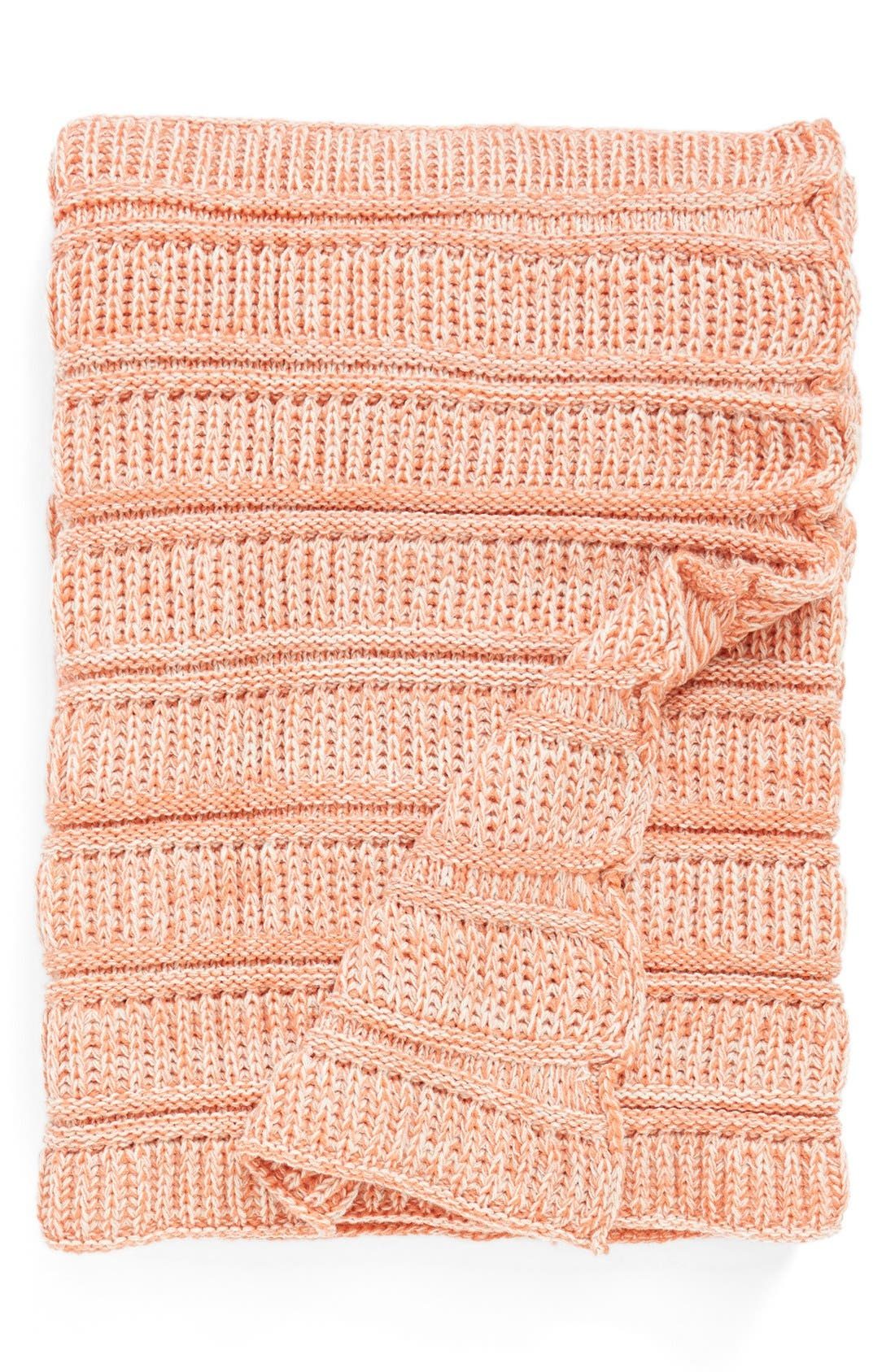 Cable Twist Throw, Main, color, 950