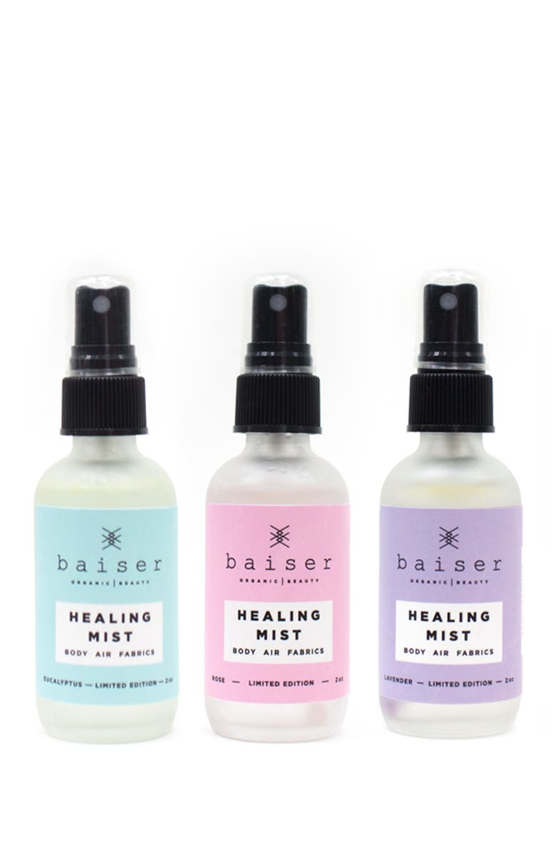 BAISER BEAUTY Healing Mists Box - Set of 3, Main, color, ROSE/LAVENDER/EUCALYPTUS