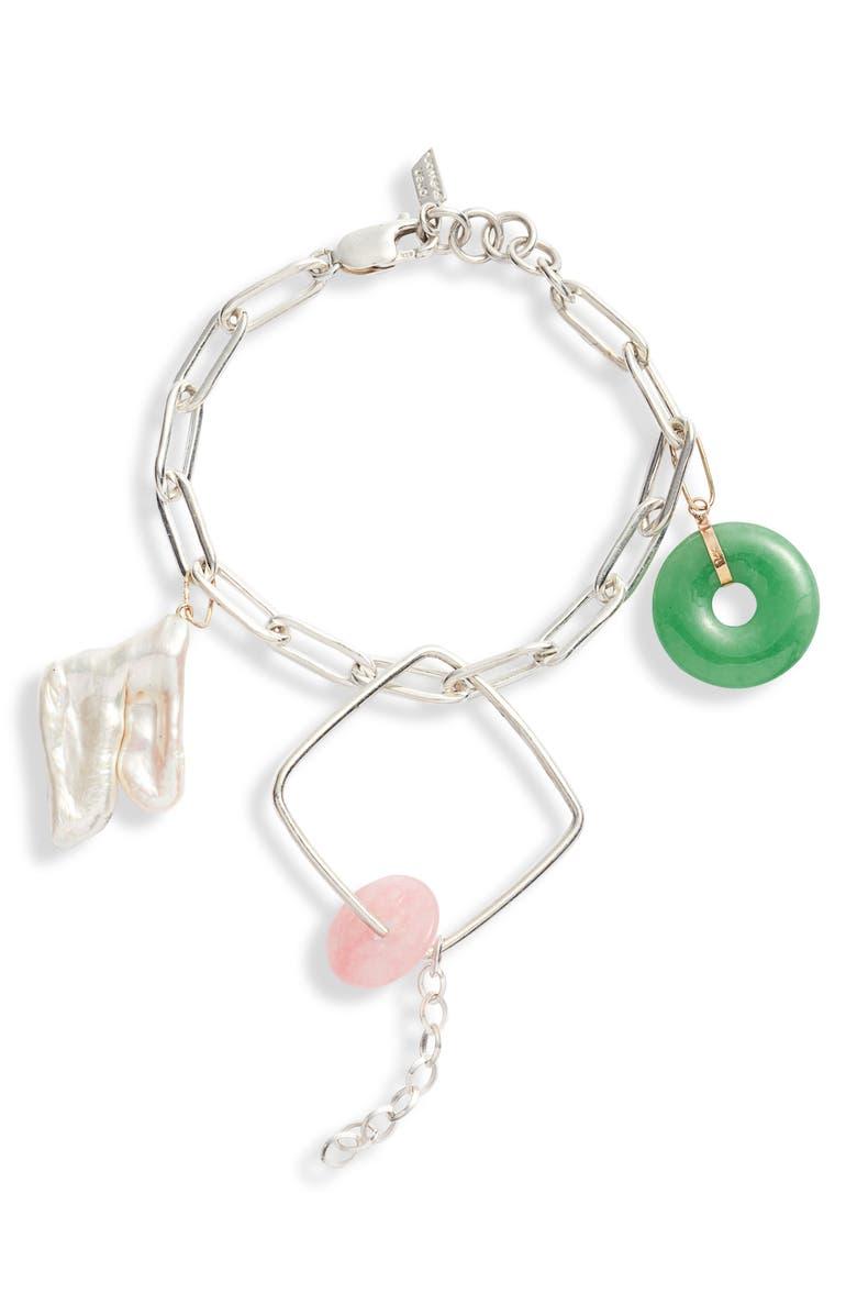 LOREN STEWART Long Link Bracelet, Main, color, SILVER
