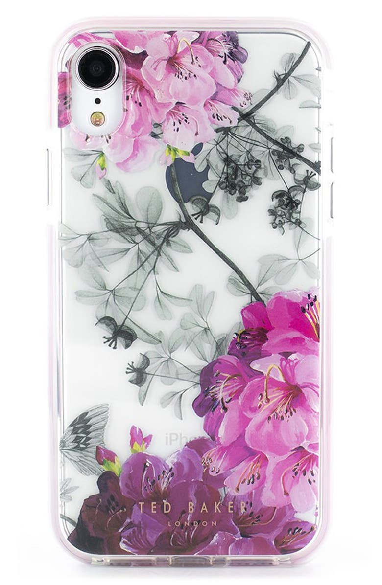 TED BAKER LONDON Babylon Anti Shock X/Xs/Xs Max & XR iPhone Case, Main, color, CLEAR
