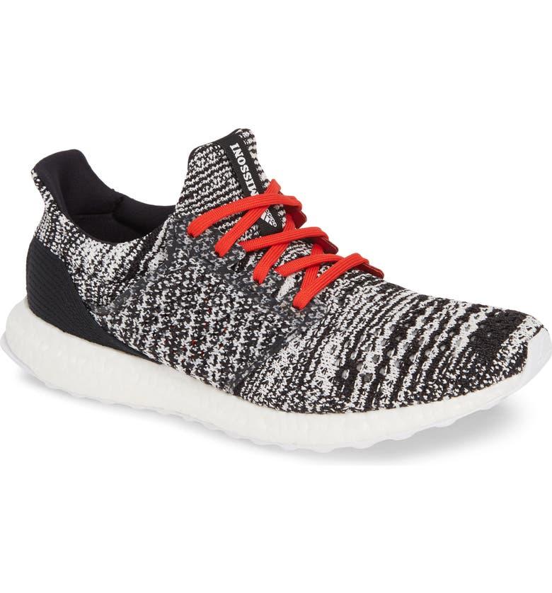 ADIDAS X MISSONI UltraBoost Clima Sneaker, Main, color, CORE BLACK/ WHITE/ ACTIVE RED