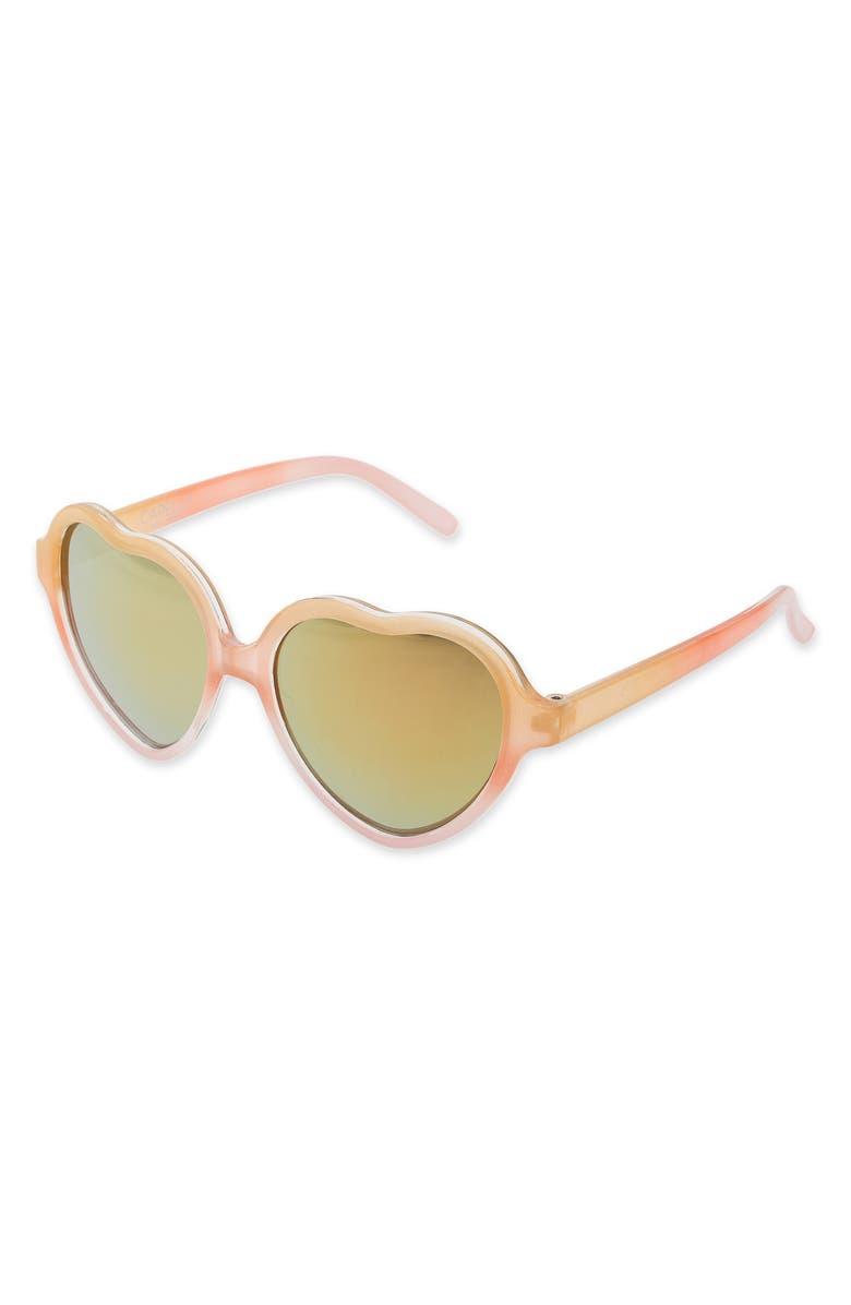 CAPELLI NEW YORK Orange Slice Sunglasses & Case Set, Main, color, PALE MULTI