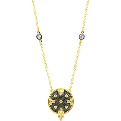 Freida Rothman Signature Clover Disc Pendant Necklace