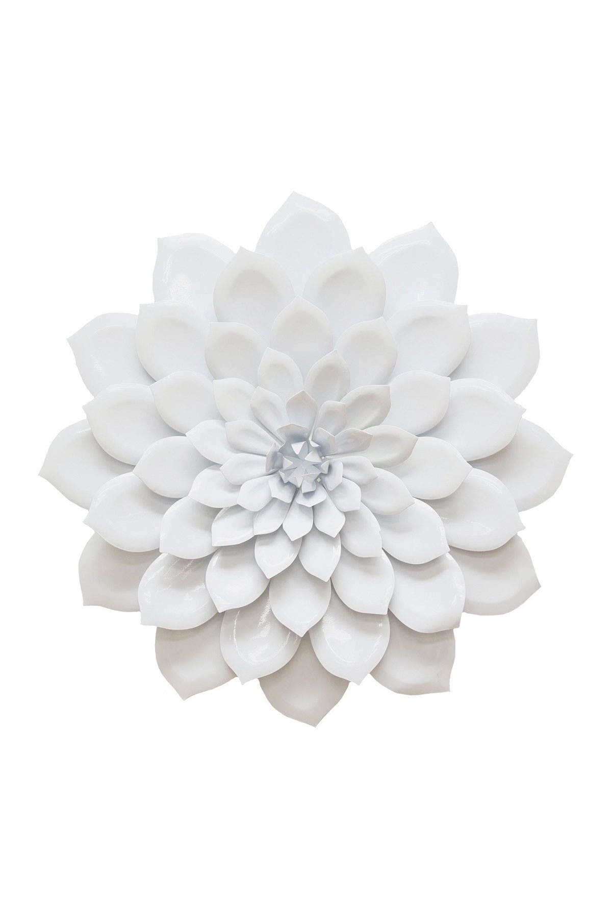 Image of Stratton Home White Layered Flower Wall Decor