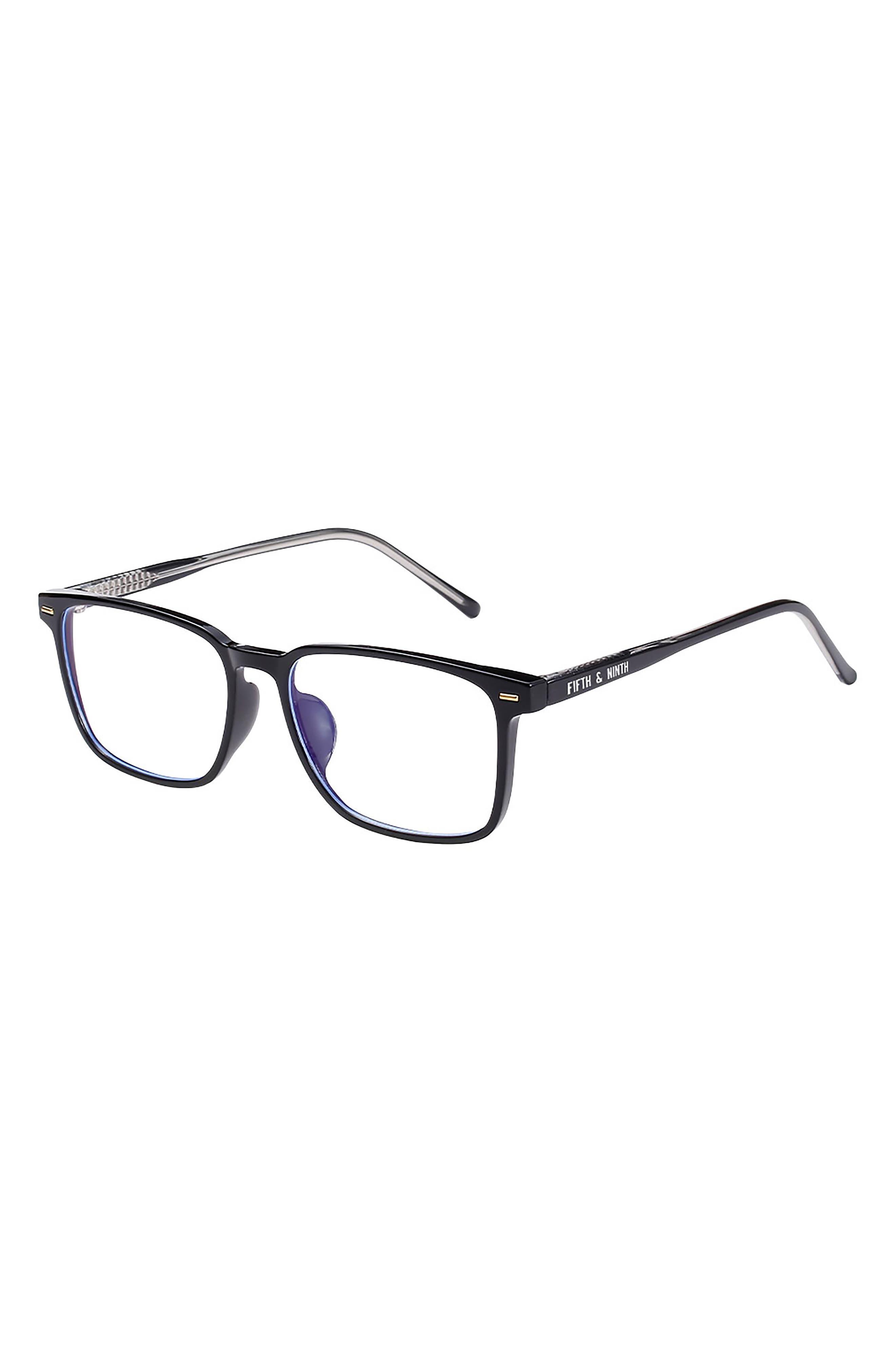 53mm Square Blue Light Blocking Glasses