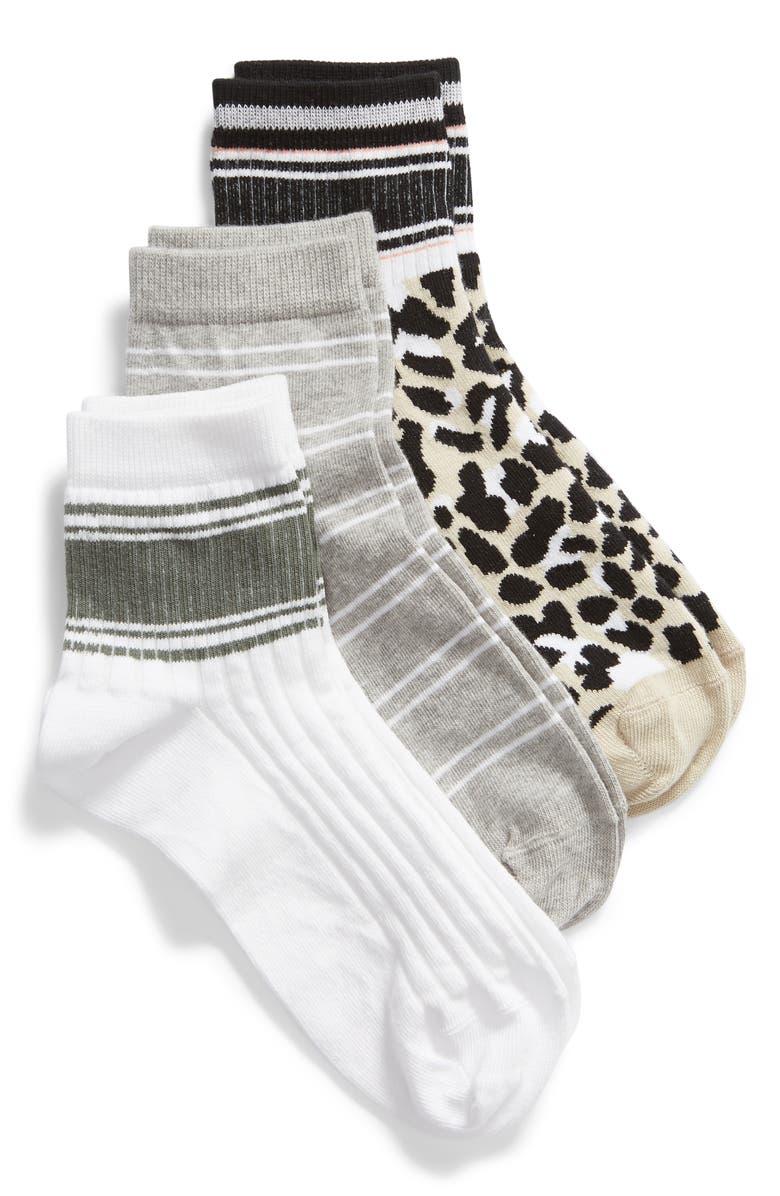 BP. 3-Pack Sport Stripe Ankle Socks, Main, color, 271