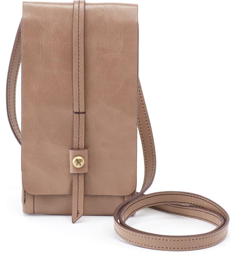 HOBO Token Smartphone Leather Crossbody Bag, Main, color, 201
