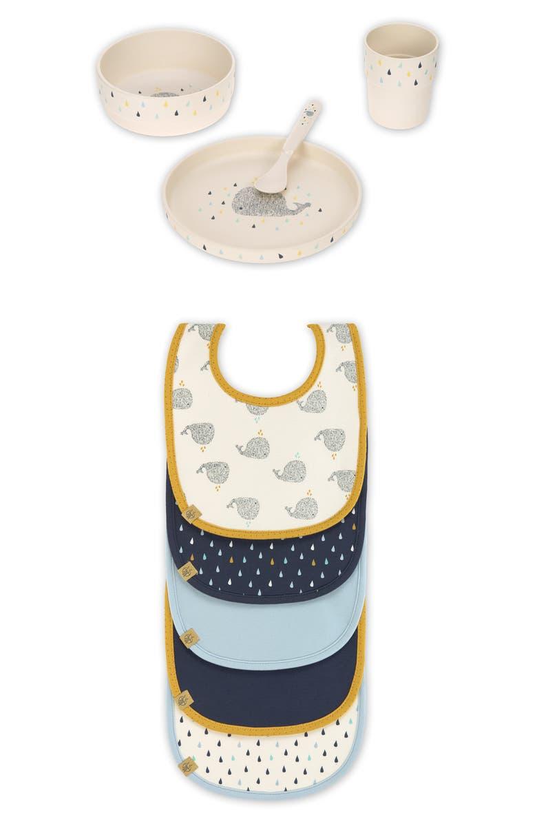 LÄSSIG Whale Dishware & Bib Bundle, Main, color, 400