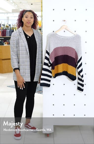 Stripe Oversize Sweater, sales video thumbnail