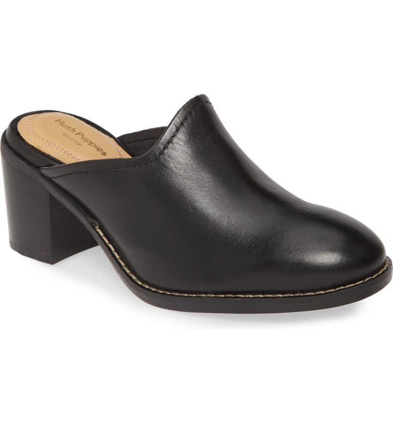HUSH PUPPIES<SUP>®</SUP> Hannah Mule, Main, color, BLACK LEATHER