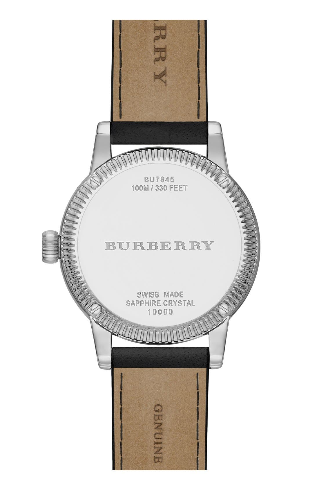 ,                             'Utilitarian' Round Leather Wrap Watch, 30mm,                             Alternate thumbnail 2, color,                             001