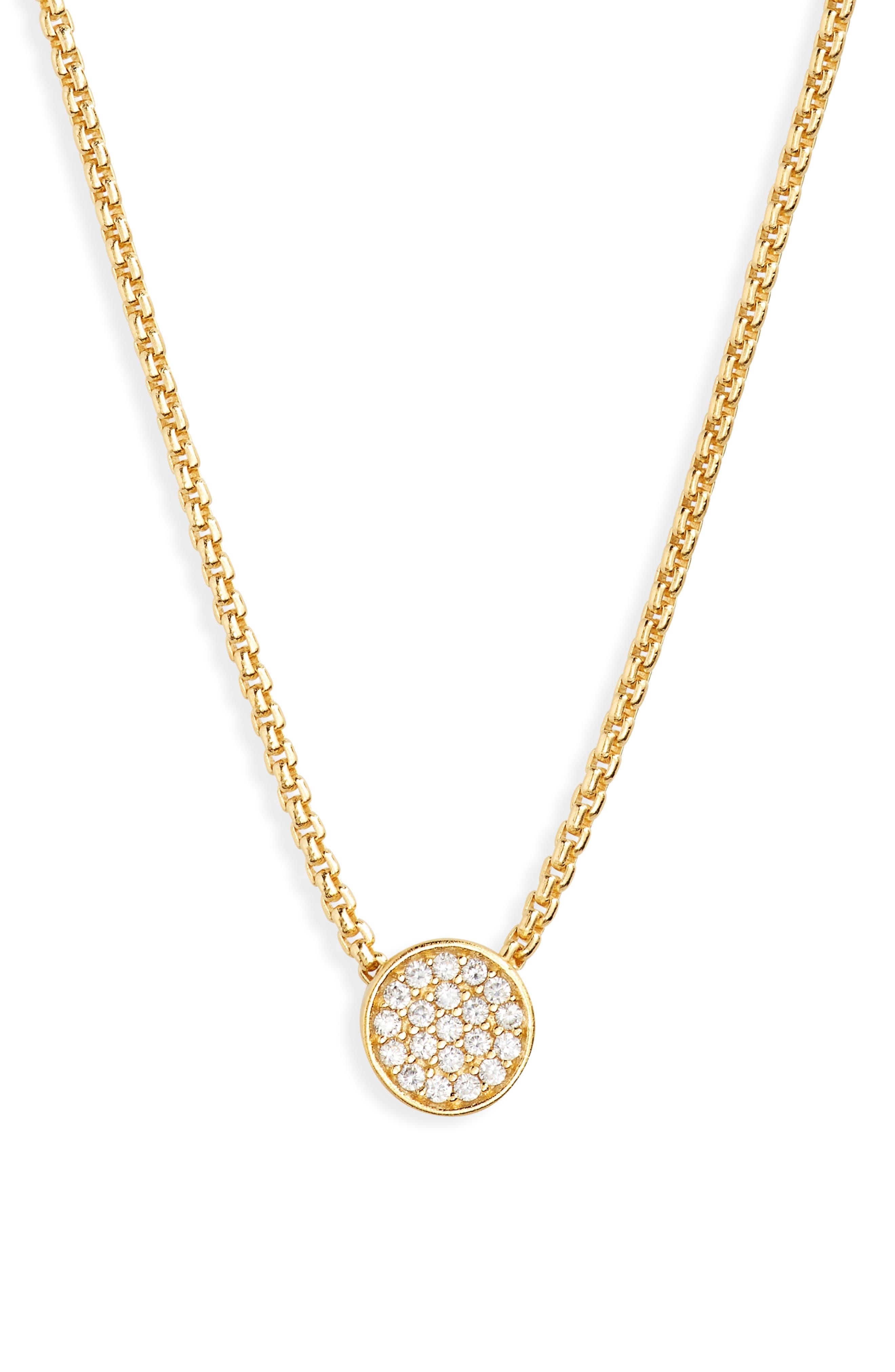Signature Pave Pendant Necklace