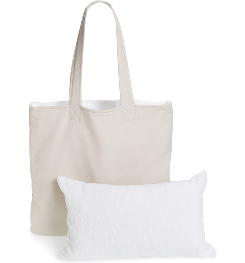 THE WHITE COMPANY Cushion Pad & Beach Tote, Main, color, 100