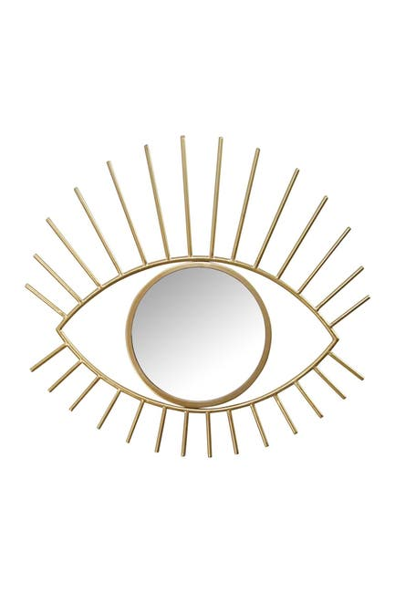 Image of Stratton Home Gold Metal Eye Wall Mirror