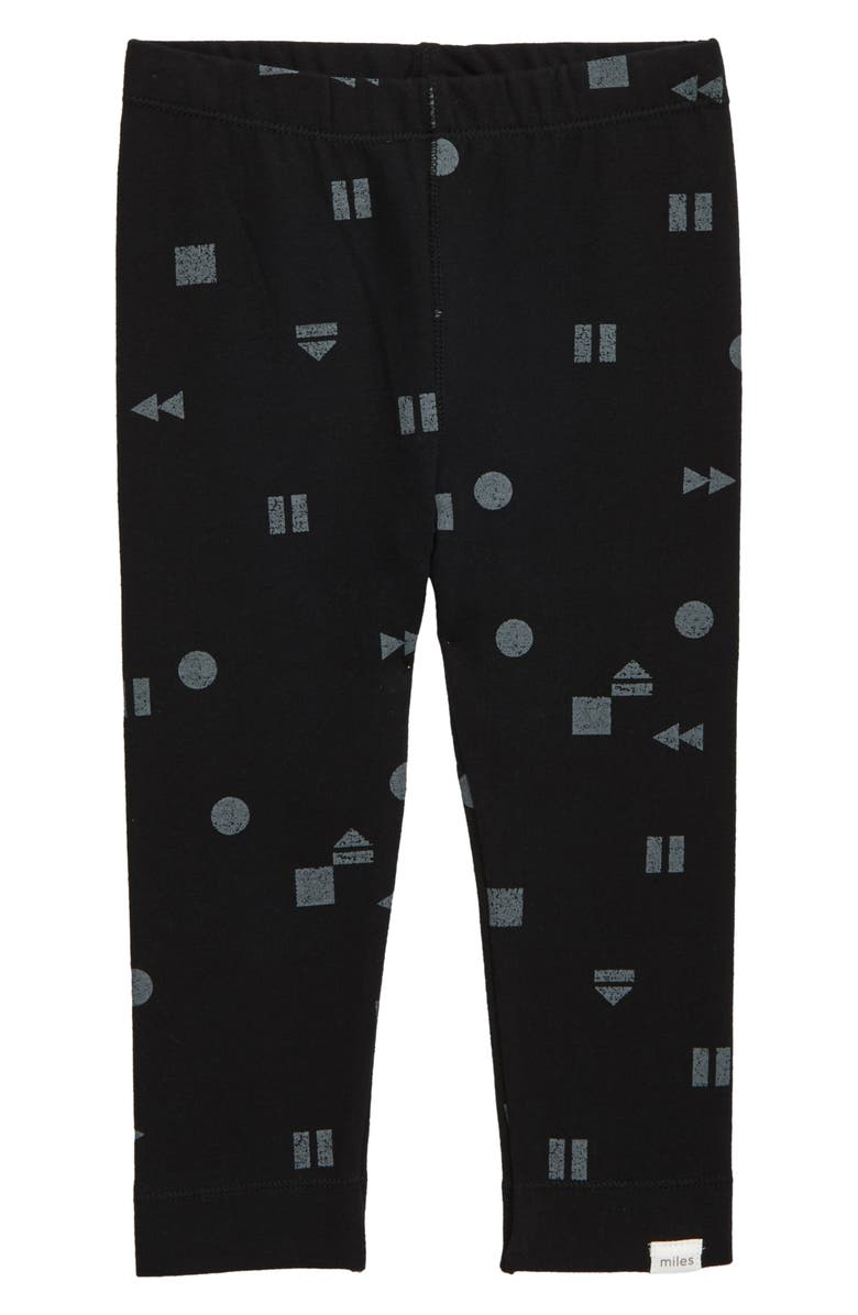 MILES BABY Knit Leggings, Main, color, BLACK