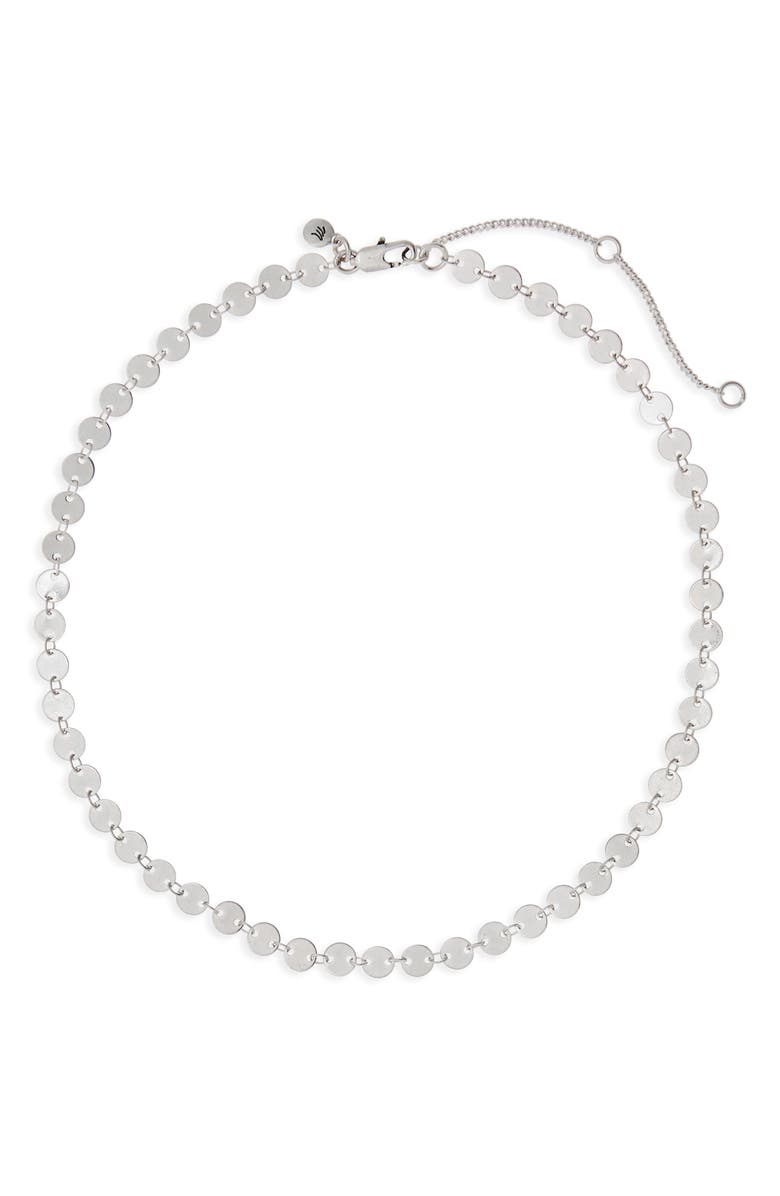 MADEWELL Disc Chain Necklace, Main, color, LIGHT SILVER OX