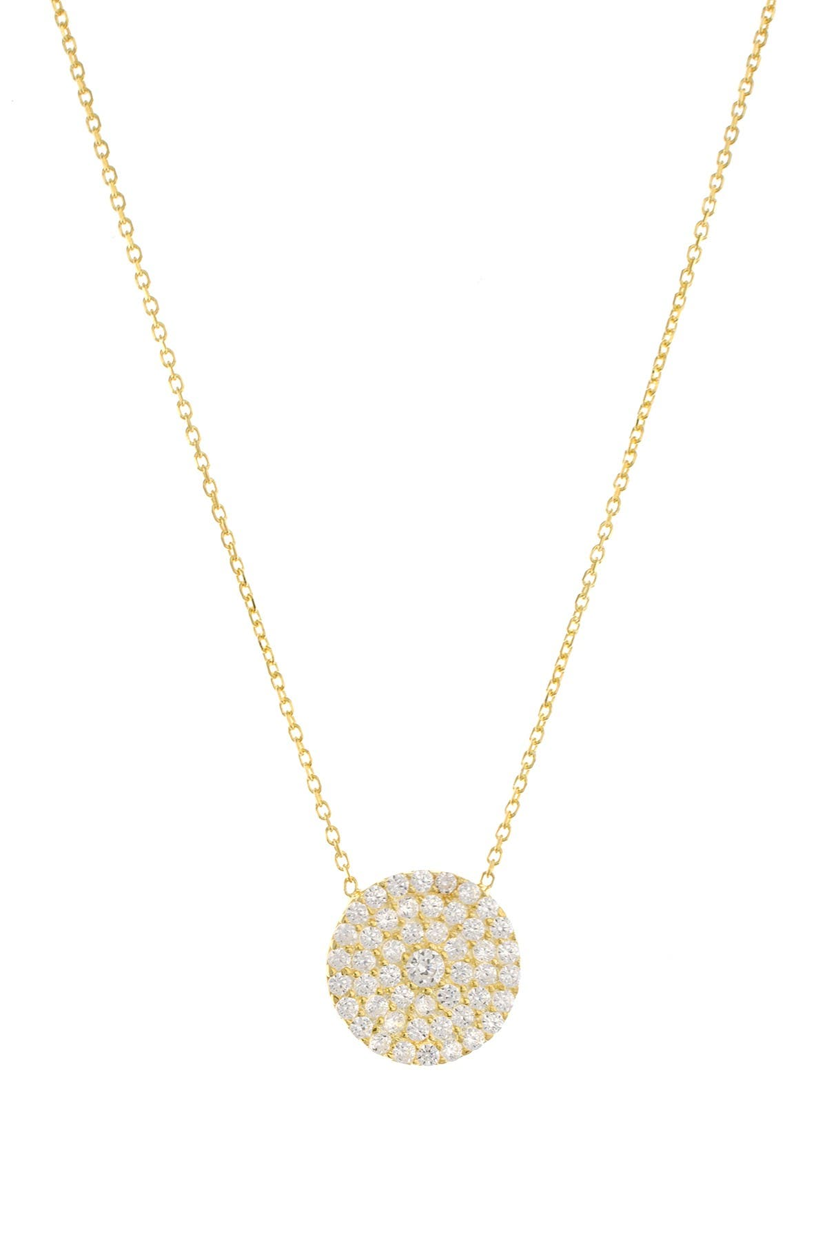 Image of CZ By Kenneth Jay Lane CZ Pave Disc Necklace