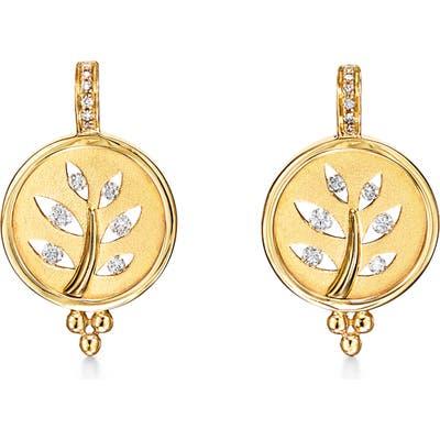 Temple St. Clair 18K Gold & Diamond Tree Cutout Earrings