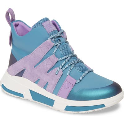 Fitflop Carita High Top Sneaker, Blue