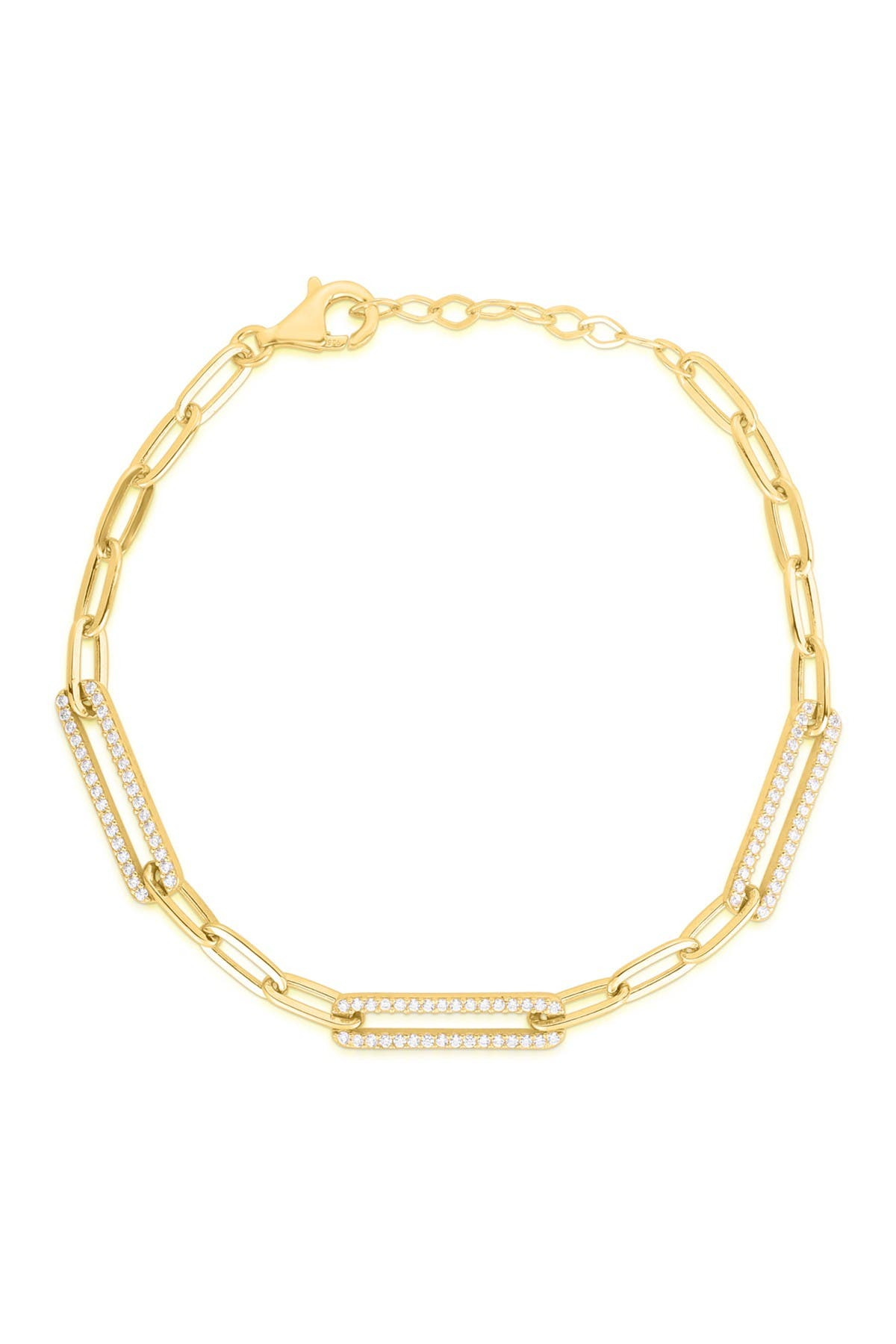 Image of Sphera Milano 14K Gold Vermeil CZ Link Chain Bracelet