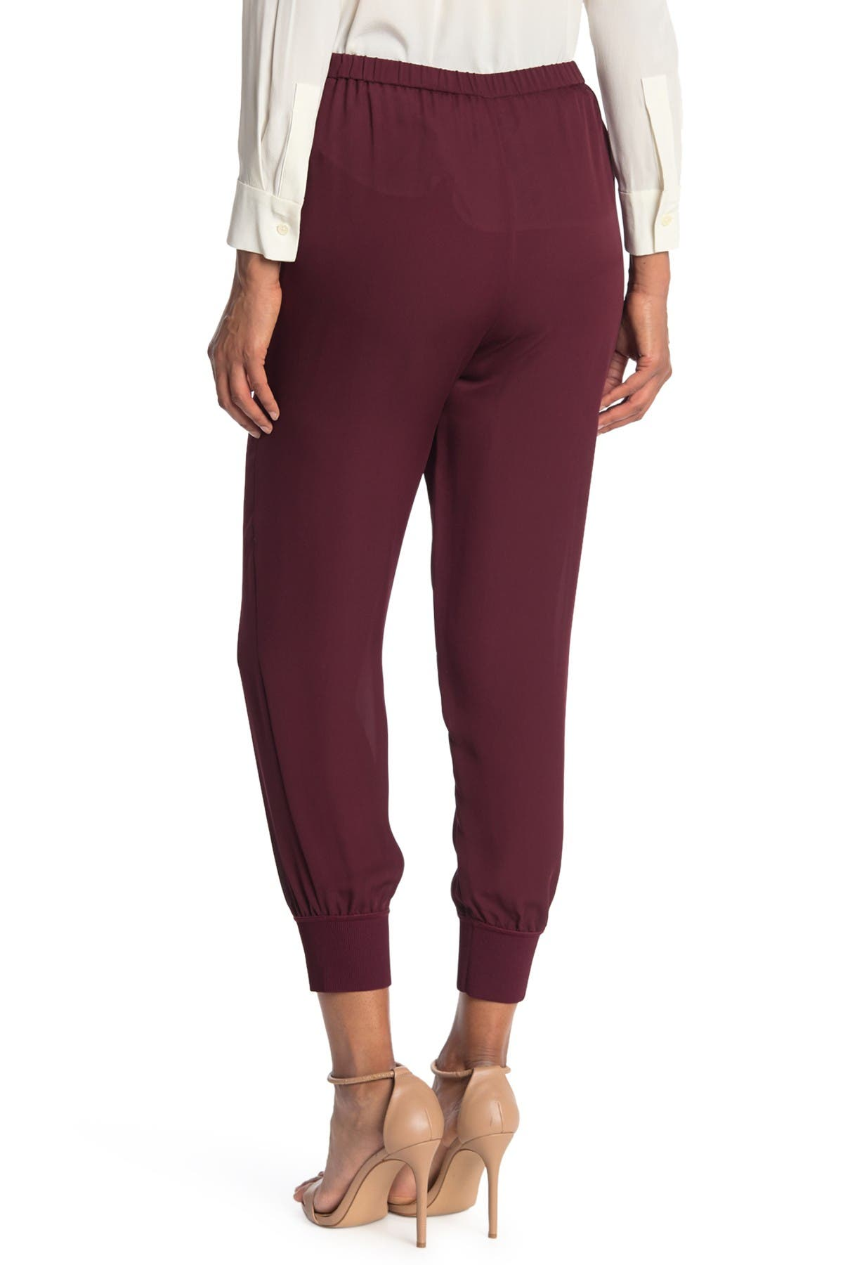 Image of Theory Silk Ankle Crop Joggers