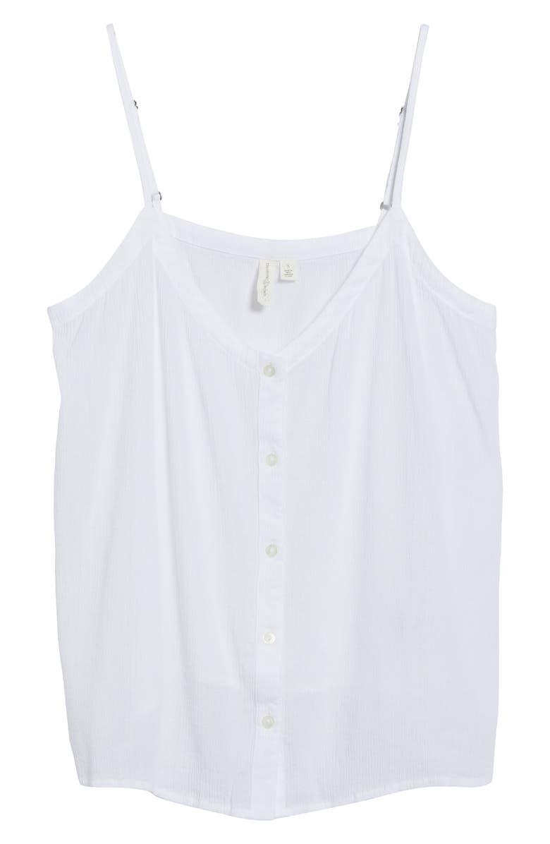 TREASURE & BOND Button Tank Top, Main, color, WHITE