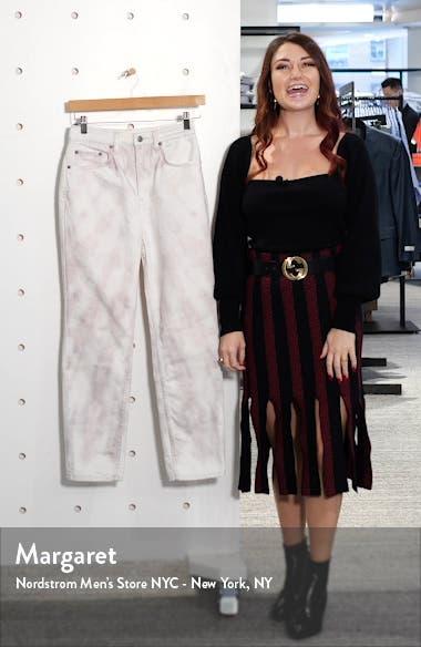 Chlo Tie Dye High Waist Ankle Straight Leg Jeans, sales video thumbnail